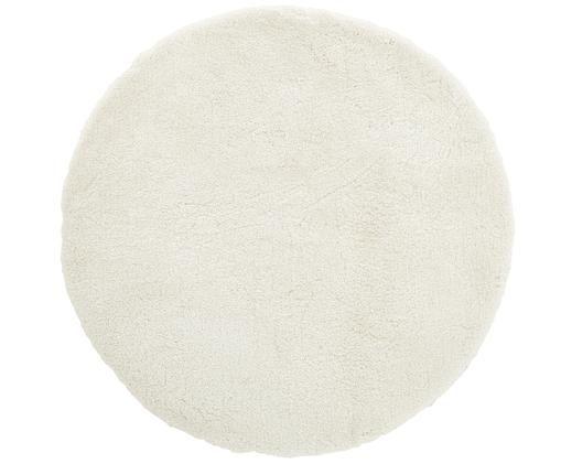 Flauschiger Runder Hochflor-Teppich Leighton in Creme, Flor: 100% Polyester (Mikrofase, Creme, Ø 120 cm