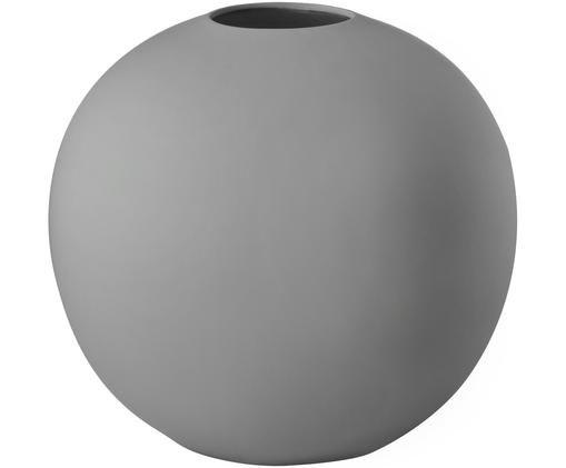 Vaso a sfera fatto a mano Ball, Ceramica, Grigio, Ø 20 x Alt. 20 cm