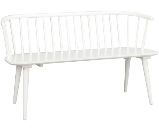 Weiße Holzbank Carmen im Windsor Design, Weiß
