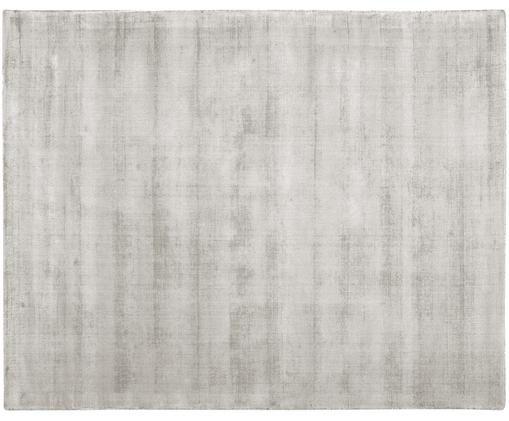 Tappeto in viscosa tessuto a mano Jane, Vello: 100% viscosa, Retro: 100% cotone, Grigio chiaro-beige, Larg. 400 x Lung. 500 cm