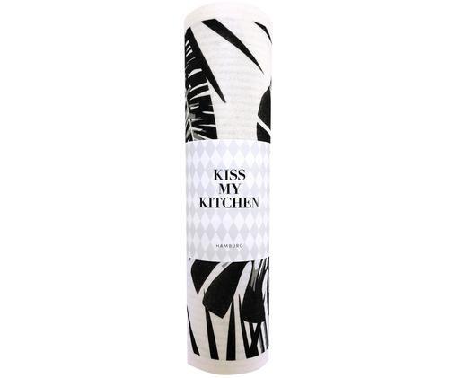 Ręcznik kuchenny Urban Jungle, 70% celuloza, 30% bawełna, Biały, czarny, S 24 x D 25 cm