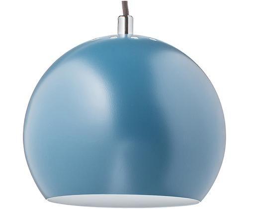 Lampada a sospensione Ball, Metallo verniciato a polvere, verde benzina, Ø 18 x A 16 cm