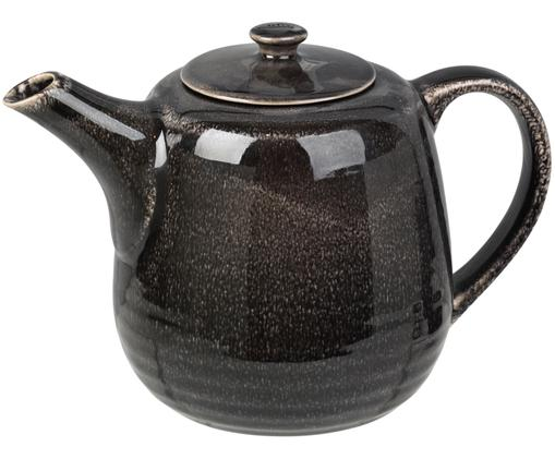 Teiera fatta a mano Nordic Coal, Terracotta, Marrone scuro, 1.3 L