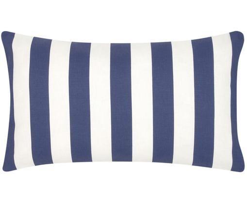 Federa arredo a strisce Timon, Cotone, Blu scuro, bianco, Larg. 30 x Lung. 50 cm
