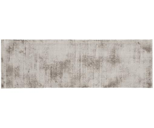 Handgewebter Viskoseläufer Jane, Flor: 100% Viskose, Taupe, 80 x 250 cm