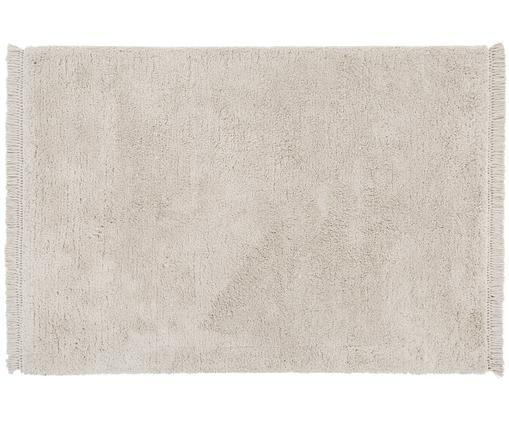 Alfombra artesanal de pelo largo Dreamy, Parte superior: 100%poliéster., Reverso: 100%algodón, Crema, An 200 x L 300 cm