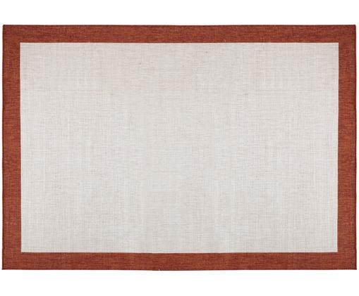 Tappeto reversibile per interni ed esterni Panama, Terracotta, crema