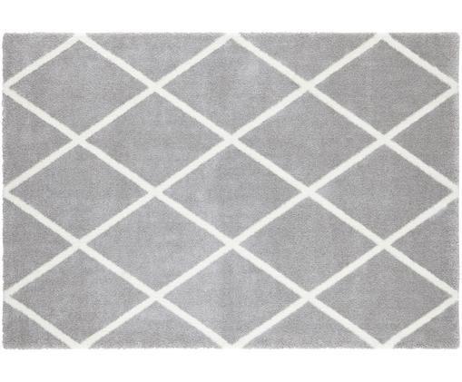 Dywan z wzorem w romby Lunel, Srebrnoszary, kremowy, S 120 x D 170 cm (Rozmiar S)