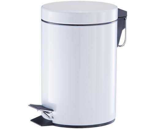 Abfalleimer Ella mit Pedal-Funktion, Schwarz, Silberfarben, Ø 17 x H 26 cm