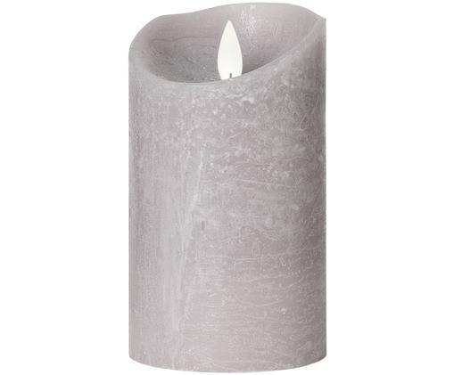 LED-Kerze Pure, Graubeige, Ø 8 x H 13 cm