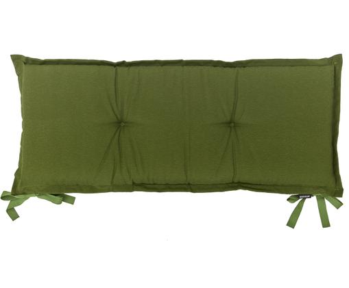 Einfarbige Bankauflage Panama, Bezug: 50% Baumwolle, 45% Polyes, Grün, 48 x 120 cm