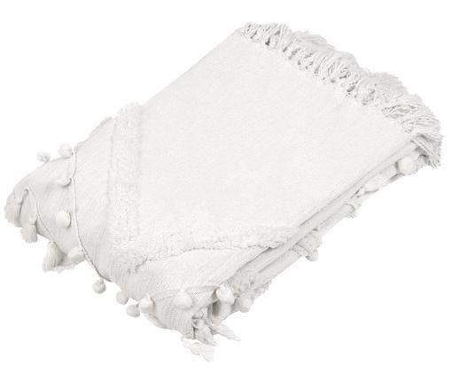 Plaid en coton Pana, Blanc crème