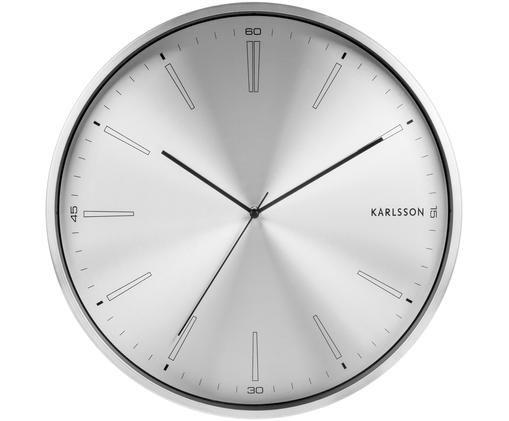 Orologio da parete Distinct, Metallo rivestito, Argentato, nero, Ø 40 cm