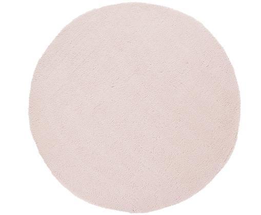 Okrągły puszysty dywan z wysokim stosem Leighton, Różowy, Ø 200 cm (Rozmiar L)