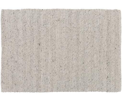 Ręcznie tkany dywan z wełny Clara, Szary melanżowy, kremowy