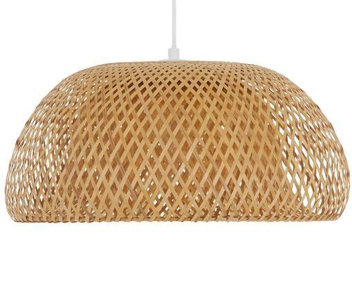 Lámpara de techo de bambú Eden, Pantalla: bambú, Cable: plástico El bambú es una , Bambú, ∅ 45 x Al 21 cm