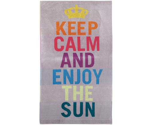 Ręcznik plażowy Keep Calm, Wielobarwny