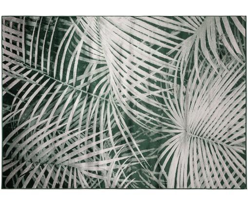 Teppich Palm, Grün, Weiß
