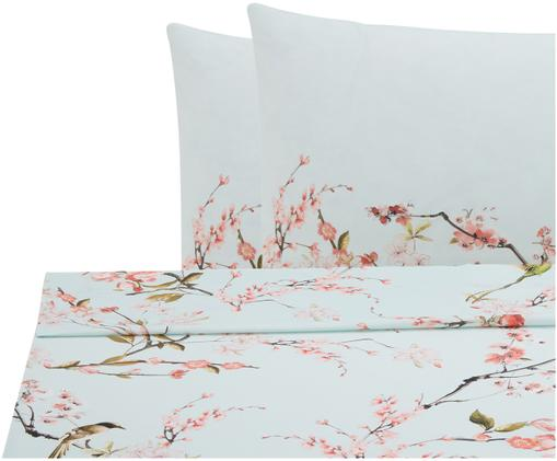 Set lenzuola in cotone ranforce Chinoiserie 3 pz