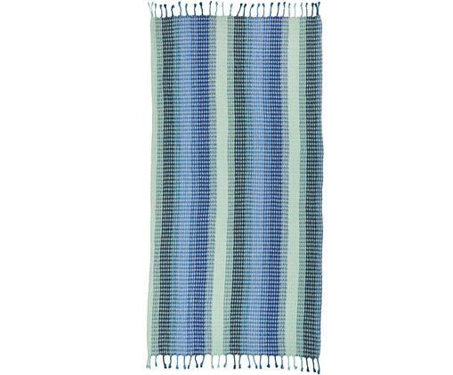 Strandtuch Manacor, Baumwolle, leichte Qualität 380g/m², Blautöne, Türkistöne, Hellbeige, 100 x 180 cm