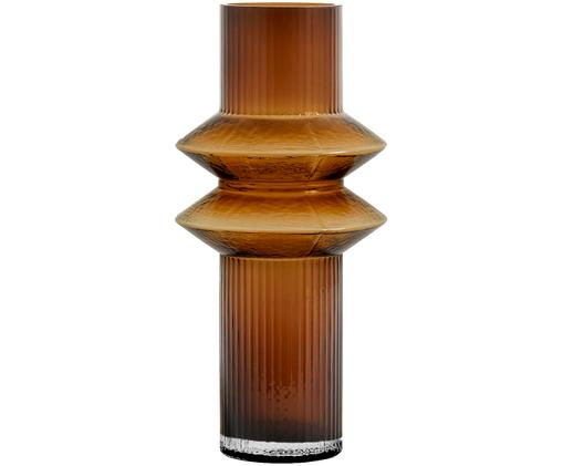 Glas-Vase Rilla, Glas, Bernsteinfarben, Ø 9 x H 32 cm