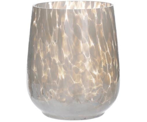 Świecznik Gunia, Szkło, Złamana biel, Ø 10 x W 12 cm