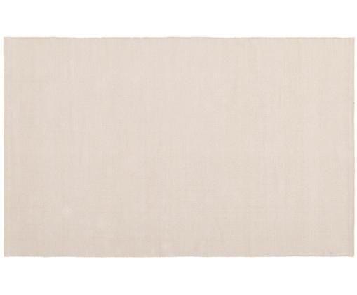 Einfarbiger Baumwollteppich Agneta, handgewebt, Baumwolle, Taupe, B 50 x L 80 cm (Grösse XXS)