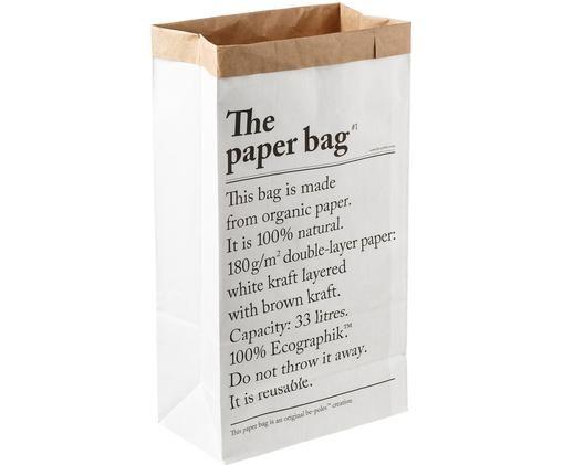 Aufbewahrungstüte Le sac en papier, Recyceltes Papier, Weiss, 32 x 60 cm