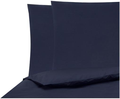Pościel z perkalu Elsie, Ciemny niebieski, 200 x 200 cm