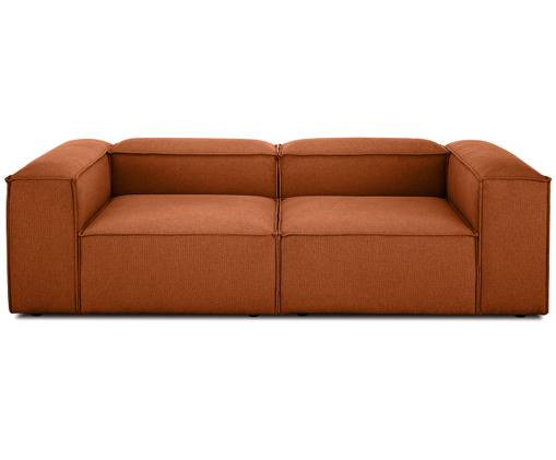 Modulares Sofa Lennon (3-Sitzer), Bezug: Polyester 35.000 Scheuert, Gestell: Massives Kiefernholz, Spe, Füße: Kunststoff, Webstoff Terrakotta, B 238 x T 119 cm