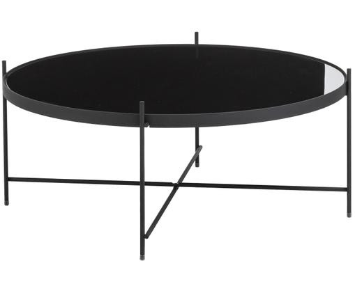 Table basse en verre Cupid, Noir