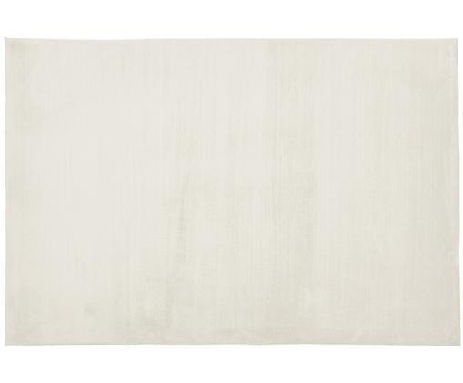 Sehr flauschiger Kunstfell-Teppich Rabea, Cremeweiß