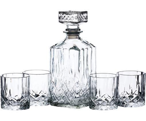 Set whiskey Coronam, 5 pz., Vetro, Trasparente, Diverse dimensioni