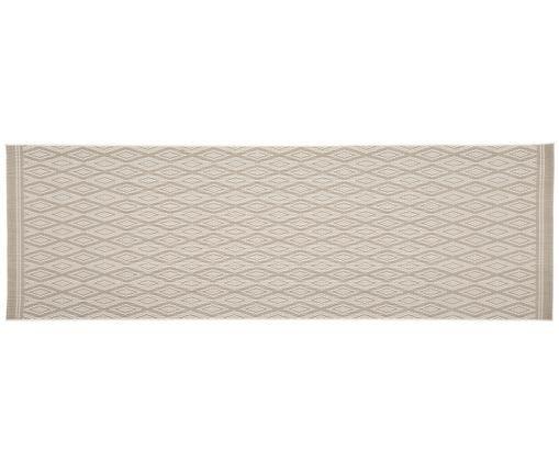 Chodnik wewnętrzny/zewnętrzny Capri, Biały, beżowy, S 80 x D 250 cm