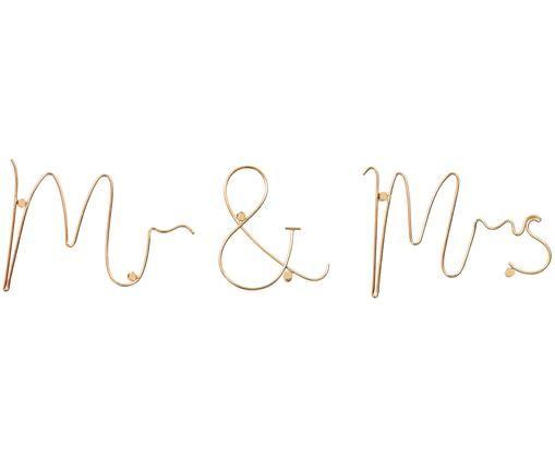 Wandobject Mr & Mrs van aluminum