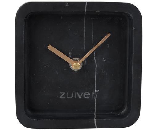 Orologio da tavolo in marmo Luxury, Quadrante: bianco Puntatore: dorato