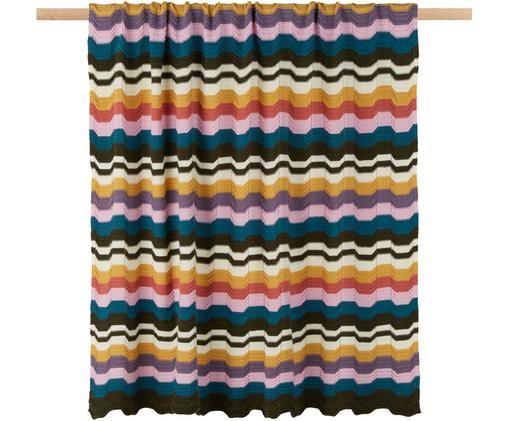 Designer Strick-Plaid Walton, 80%Wolle, 20%Polyamid, Mehrfarbig, 130 x 180 cm