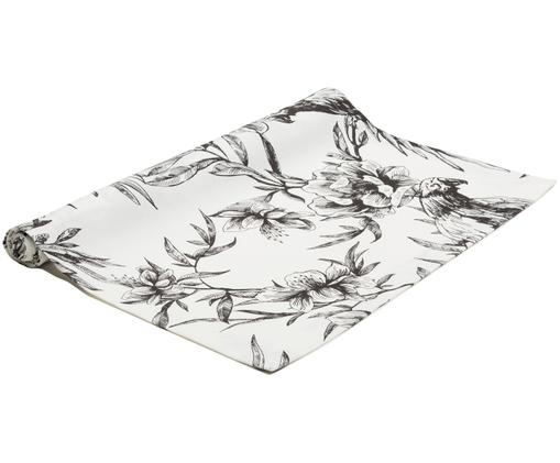 Runner da tavolo Parrot, Nero, bianco, Larg. 50 x Lung. 160 cm