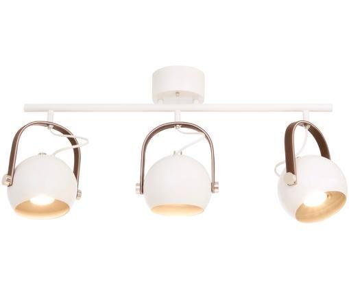 Plafonnier style industriel Bow 3, Blanc