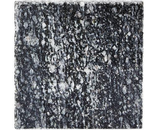 Granit-Untersetzer Coaster, Schwarz-Weiß