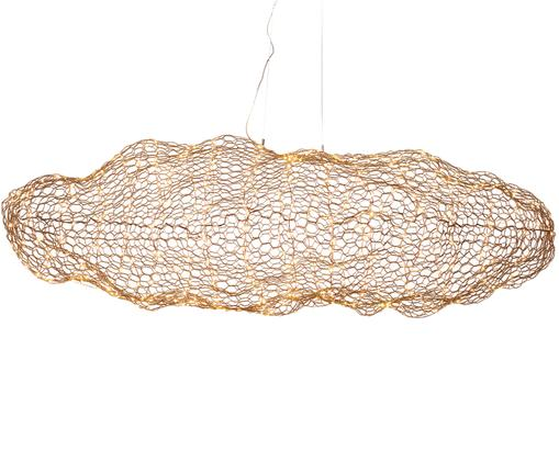 Lampa wisząca LED Hayden, Mosiądz, Odcienie mosiądzu, S 76 x W 27 cm