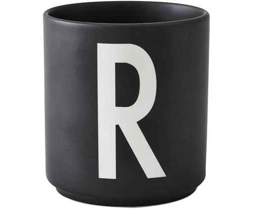 Becher R, Schwarz matt, Weiß