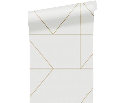 Tapete Kelly Hoppen, Papier, Creme, Goldfarben, 52 x 1005 cm