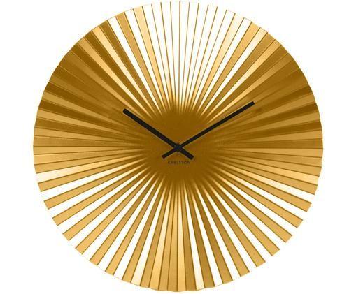 Zegar ścienny Sensu, Odcienie złotego, Ø 40 cm