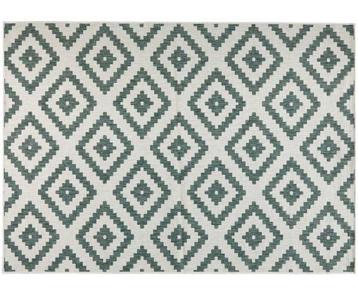 Alfombra reversible de interior/exterior Malta, Verde, crema, An 160 x L 230 cm (Tamaño M)