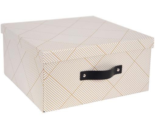 Boîte de rangement Austin, Couleur dorée, blanc