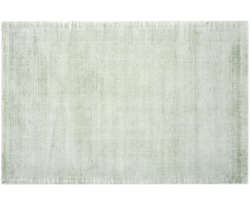 Handgewebter Viskoseteppich Jane, Flor: 100% Viskose, Mintgrün, B 120 x L 180 cm (Größe S)