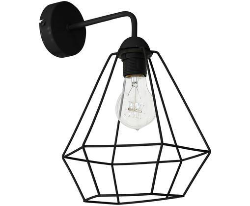 Applique en métal noir Basket, Noir