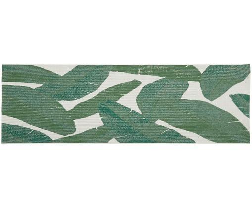 In- & Outdoorläufer Jungle, Flor: Polypropylen, Cremeweiß, Grün, 80 x 250 cm