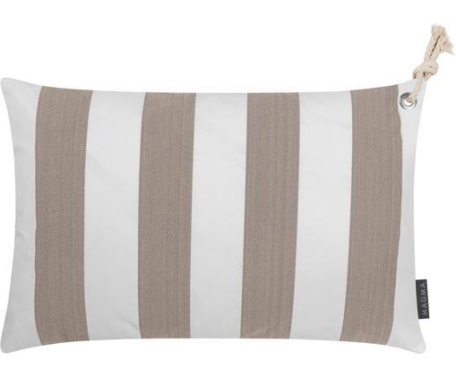 Zewnętrzna poszewka na poduszkę Santorin, Polipropylen, Taupe, złamana biel, S 40 x D 60 cm